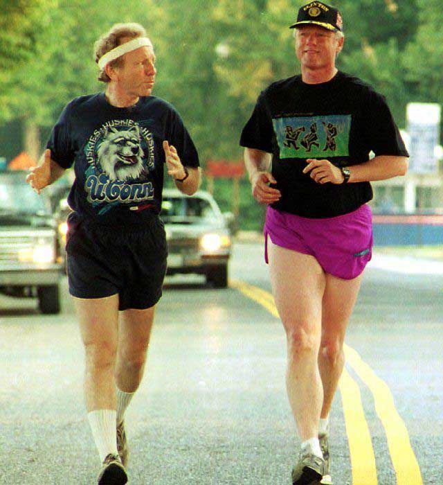 sports liberman clinton 10 pics of Bill Clintons rad jogging outfits