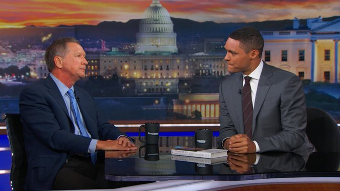 Image result for Trevor Noah interviews john kasich