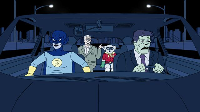 Ugly Americans: Bat Person's Car Chase