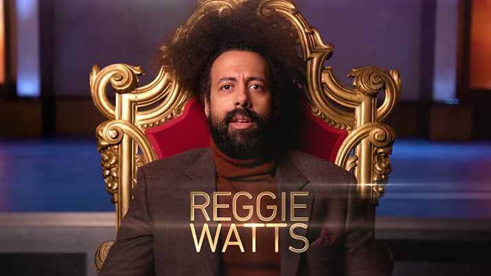 press release image, taskmaster, reggie watts