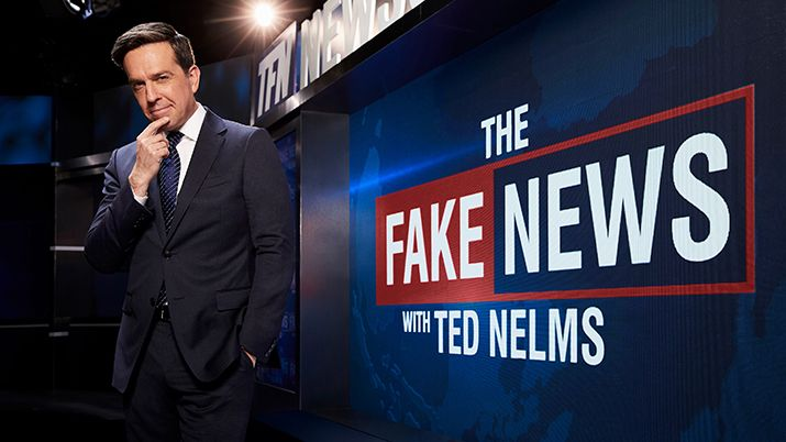 Comedy Central Press Release Image, The Fake News with Ted Nelms