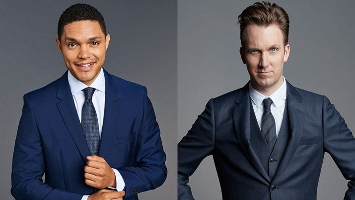Trevor Noah and Jordan Klepper Press Release Image