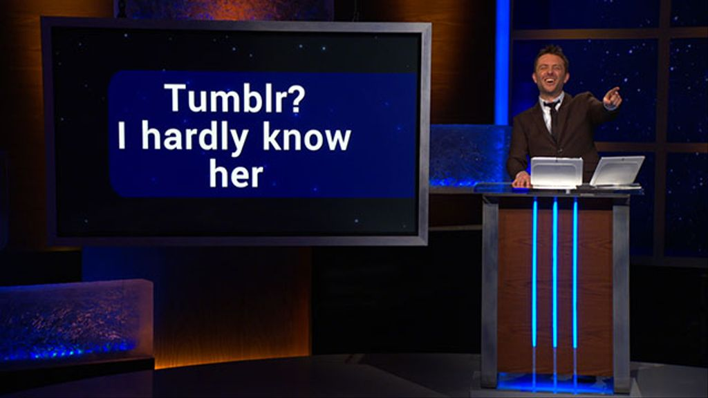 tumblr? i hardly know her - cosby cosplay - @midnight with chris