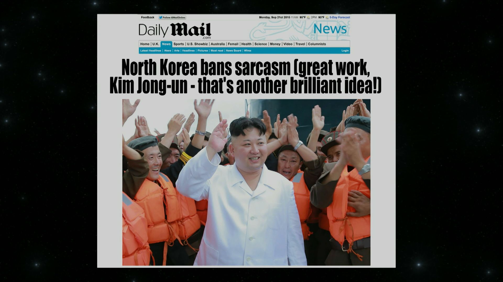 Extended - North Korea Bans Sarcasm - @midnight with Chris Hardwick ...
