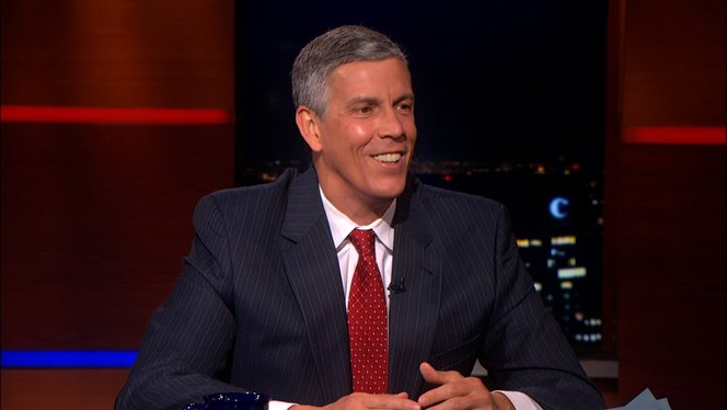 arne duncan the colbert report comedy central