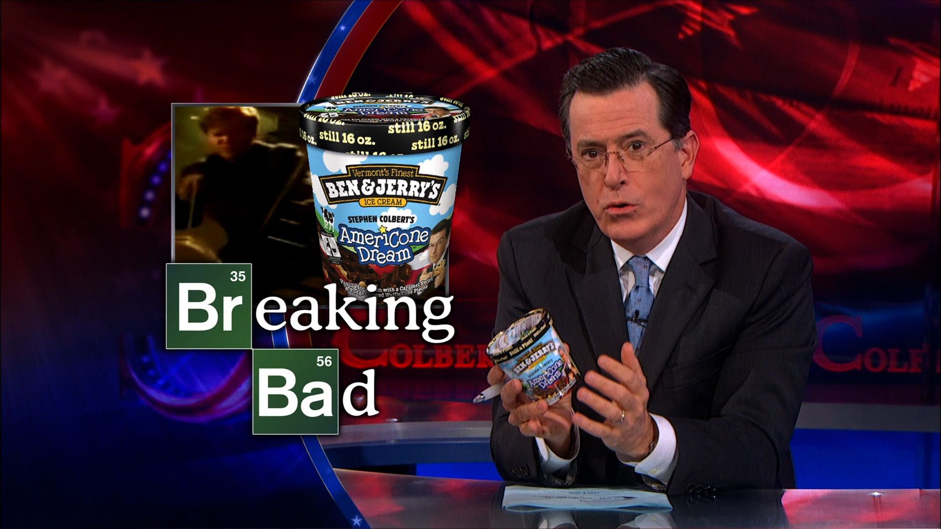Americone Dream Product Placement The Colbert Report Video Clip Comedy Central Stephen colbert guests stretch across celebrities, sports, political, and social arenas. americone dream product placement the