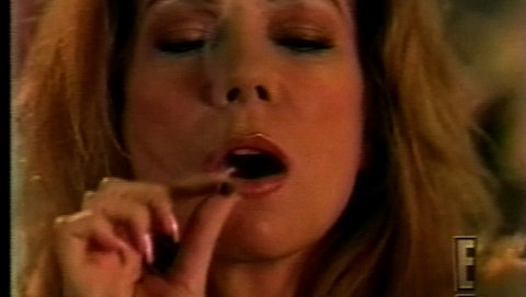 Kathie Lee Gifford aan het roken