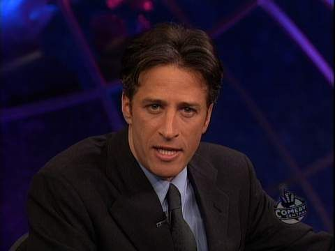 20 years ago, Jon Stewart began hosting The Daily Show. Here's a clip from that first show. [x-post /r/TwentyYearsAgo]