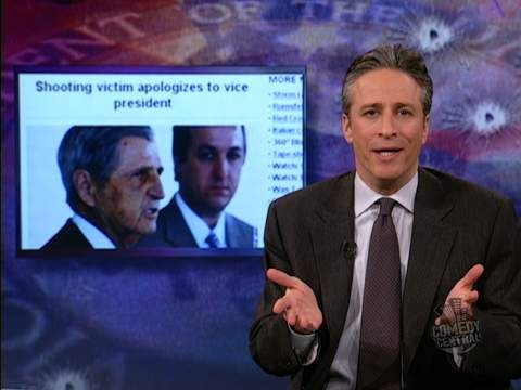 Cheney dick jon shooting stewart