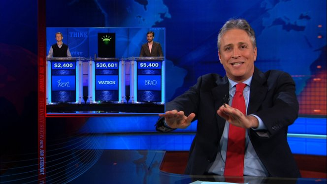 intro watson competes on jeopardy the daily show with jon stewart video clip comedy central