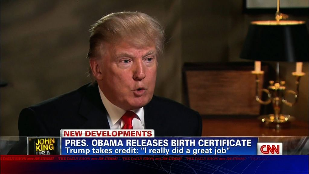 Moment of Zen - Trump Takes Credit for Birth Certificate - The Daily ...