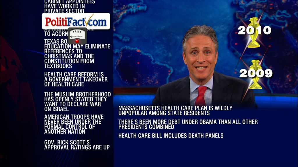 Jon Stewart\'s epic rundown of PolitiFact\'s fact-checks of Fox News ...