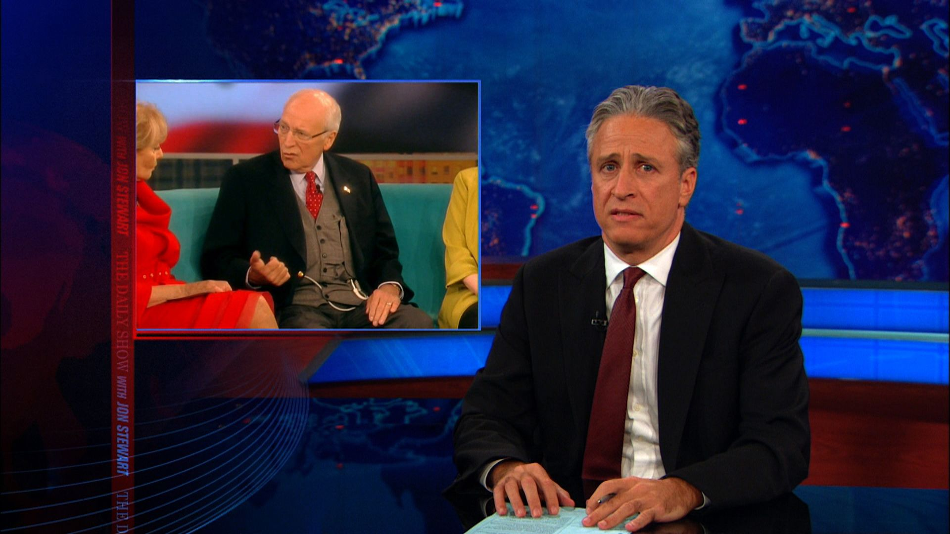 the humanization of dick cheney the daily show with jon