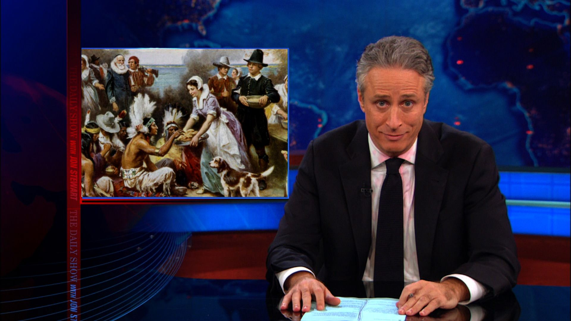 Much Ado About Stuffing - The Daily Show with Jon Stewart (Video ...