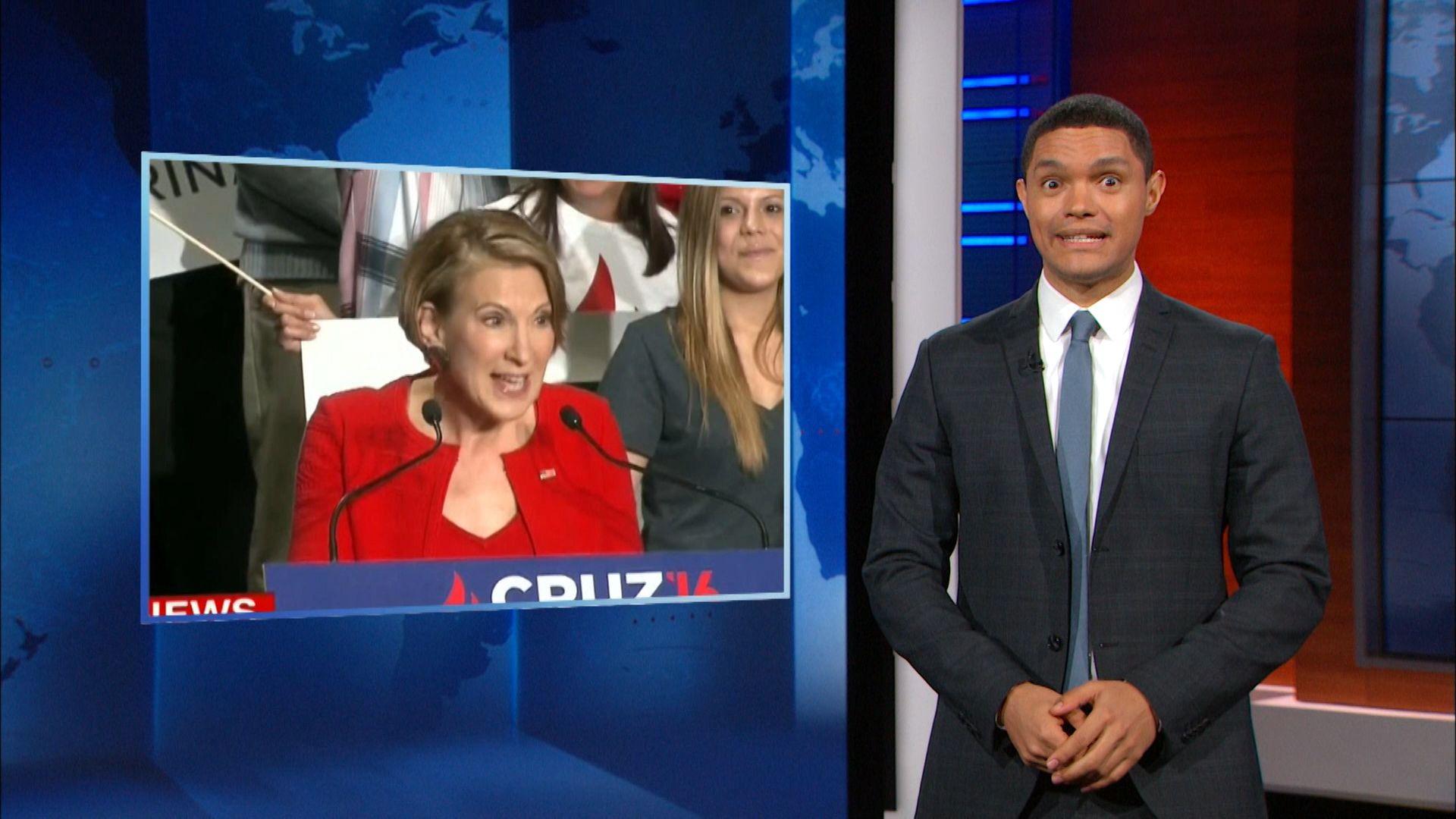 John Boehner Slams Ted Cruz & Carly Fiorina Sings a Terrifying Song - The Daily Show with Trevor Noah (Video Clip)