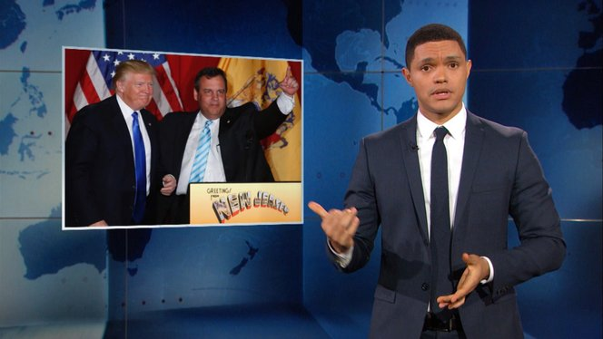 donald trump pays back chris christie the daily show with trevor