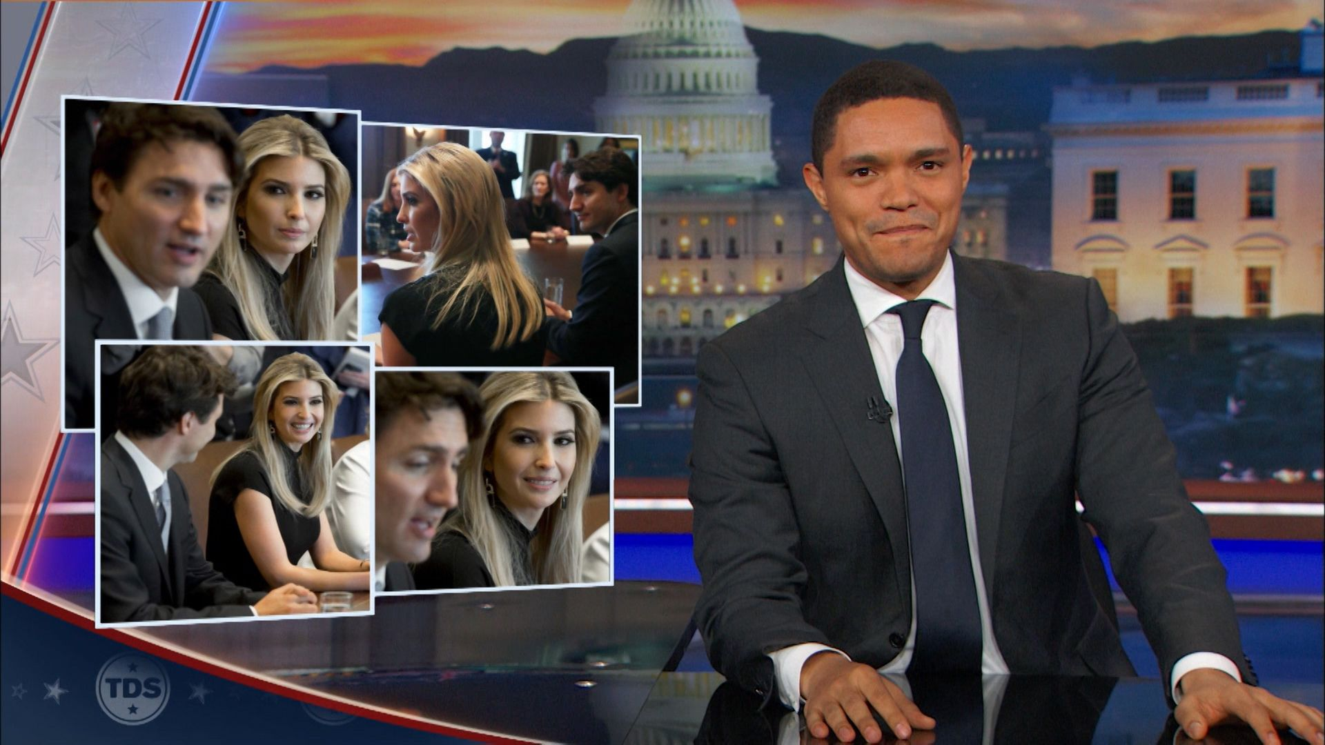 Ivanka Trump Hearts Justin Trudeau - The Daily Show with Trevor Noah (Video  Clip) | Comedy Central