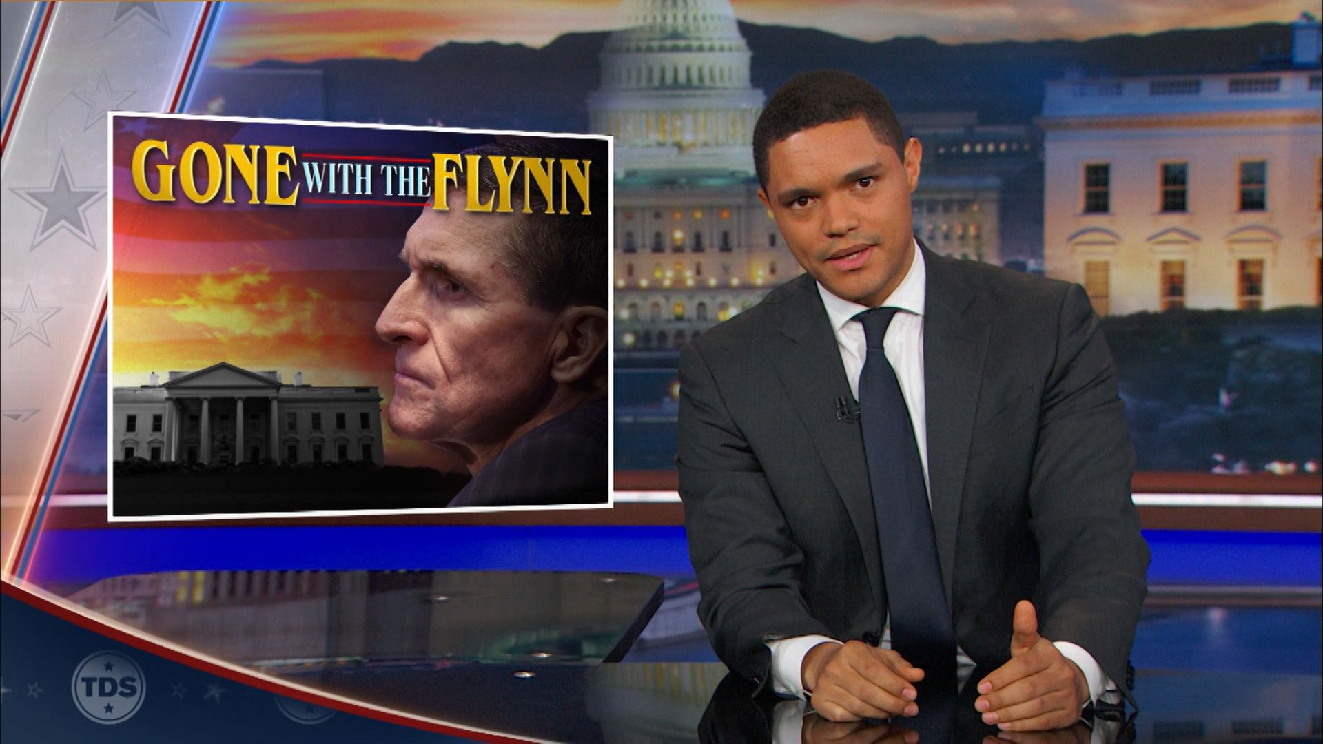 Michael Flynn Becomes the First Casualty of the Trump Administration - The  Daily Show with Trevor Noah (Video Clip) | Comedy Central