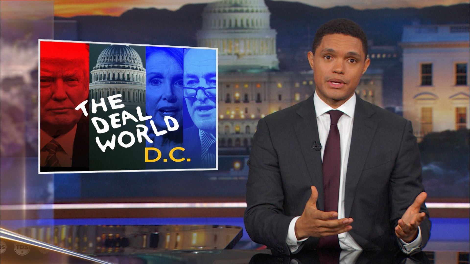 Trump Strikes a Budget Deal with Democrats, F**ks His Own Party - The Daily  Show with Trevor Noah (Video Clip) | Comedy Central