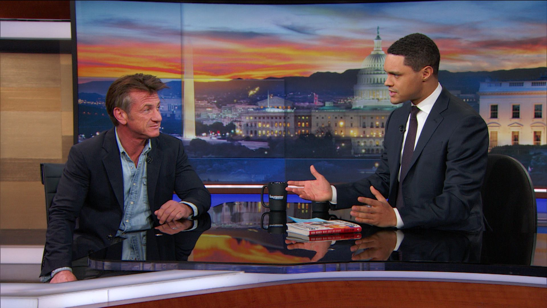 """Sean Penn - Following His Muse with """"Bob Honey Who Just Do Stuff"""" - Extended Interview - The Daily Show with Trevor Noah (Video Clip)"""