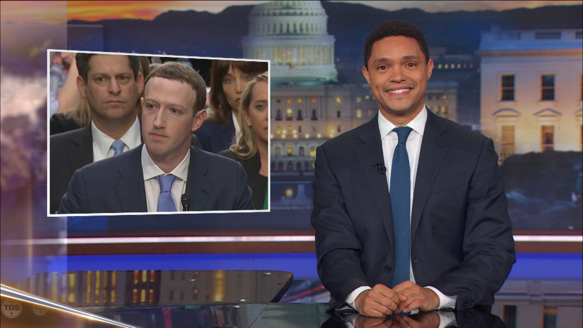 Mark Zuckerbergu0027s Congressional Testimony: Non Answers And Robo Sorries    The Daily Show With Trevor Noah (Video Clip) | Comedy Central