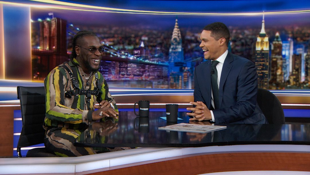Image result for Burna Boy and Trevor Noah