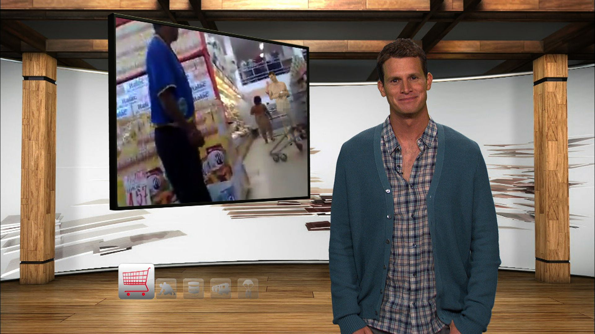Naked Woman Grocery Shopping - Tosh0 Video Clip -8686